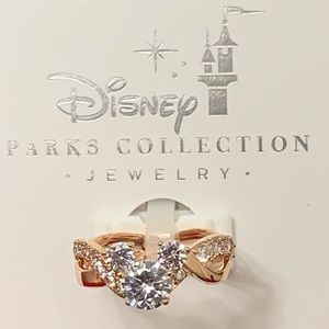 Disney Parks Collection Rose Gold Mickey Ring